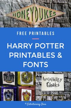 These Harry Potter party printables and fonts are an easy way to have the best Harry Potter party without spending a lot of money Harry Potter Adult Party, Décoration Harry Potter, Harry Potter Halloween, Harry Potter Houses, Harry Potter Birthday, Easy Party Decorations, Harry Potter Party Decorations, Halloween Decorations, Hogwarts Great Hall