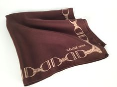 Vintage 90s Men's Pocket Square Celine Paris Silk by idcmasculine