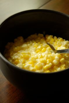 "Homemade Creamed Corn... for recipes that call for ""a can of creamed corn"" with some wonderful non gmo farmers market corn... Ohhhh Saturday hurry up! This is going to be yummy!"