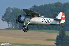 "Swiss Dewoitine D.26. French built interwar ""parasol"" fighter."