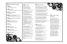 Wedding Program Inside (www.avizadesign.com) Stationary Design, Wedding Stationary, Wedding Programs, Nicene Creed, Invitations, Graphic Design, Wedding Stationery, Stationery Design, Save The Date Invitations