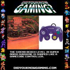 Sirena Beach in Super Mario Sunshine is a gamecube controller?