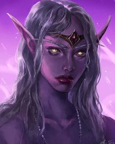 Fanart portrait of Queen Azshara. Always wanted to try and paint her haha Enjoy! Process video: I would love some compan. World Of Warcraft, Warcraft Art, Character Portraits, Character Art, Character Design, Fantasy Warrior, Fantasy Girl, Dark Fantasy, Dnd Characters