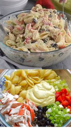 This Crab Pasta Salad is a family recipe, one of my favorites! Packed with vegg This Crab Pasta Salad is a family recipe, one of my favorites! Packed with veggies and delicious fla Favorite Crab Pasta SaladCrab Pasta SaladEasy Cold Crab Pasta Sala Crab Pasta Salad, Easy Macaroni Salad, Classic Macaroni Salad, Bacon Ranch Pasta Salad, Best Pasta Salad, Easy Pasta Salad Recipe, Summer Pasta Salad, Chicken Salad Recipes, Seafood Recipes