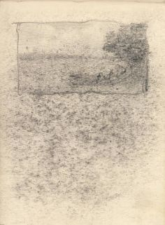 Georgia O'Keefe, Untitled (Landscape), 1901/1902, graphite on paper