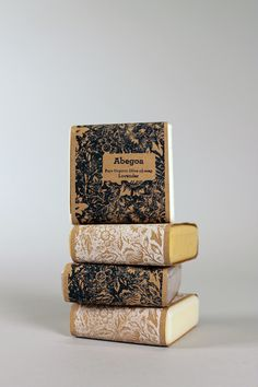 Sustainable Soap Packaging. Letterpress with soy based ink.
