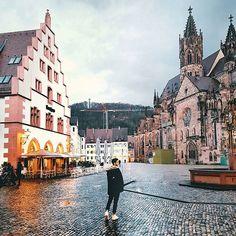 Freiburg, Germany.  Alone in the city @paolovillani.  #Freiburg