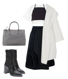 """Untitled #254"" by astrro on Polyvore featuring Rosie Assoulin, Lanvin, Prada and Bottega Veneta"