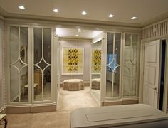 Private residence Chelsea. Medium antique mirror on 6mm float. By Mirrorworks