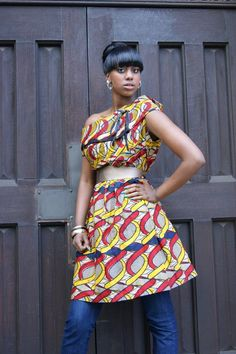 African Print Dress By Bot i lam