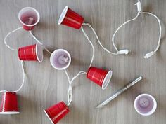 How cute are these DIY Solo cup string lights? See how to make them: http://www.greatamericancountry.com/living/lifestyles/backyard-party-ideas--pictures?soc=pinterest