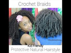 ▶ Crochet Braids on Natural Hair (Kid Friendly) - YouTube | absolutely perfect for my Naya Poo