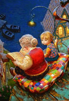 Victor Nizovtsev ( Viktor Nizovtsev ) Victor Nizovtsev is a masterful oil painter of theatrical figurative composition, fantasy, landscapes, and still life. Art And Illustration, Fantasy Kunst, Fantasy Art, Victor Nizovtsev, Whimsical Art, American Artists, Cute Art, Illustrators, Folk Art