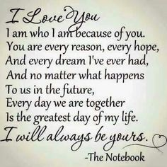 Allie and Noah had a love like nothing I've ever seen.