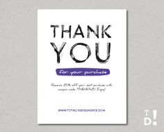 Small business thank you postcards google search thank you cards business thank you cards printable instant download by totallydesign 1000 colourmoves