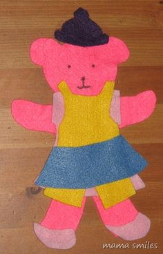 Another great idea for felt! Felt Dress-up Bears from Mama Smiles - Joyful Parenting