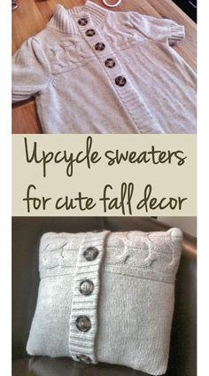 fabriquer un coussin avec un vieux chandail de laine.