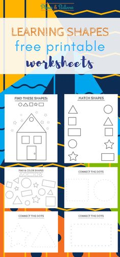 Learning shapes preschool free printables for teachers and parents. Teaching shapes with these easy shapes activities printables such as find and color, tracing shapes and coloring pages.