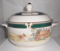 NORITAKE Keltcraft PURSUIT Round Covered by Libbysmomsvintage
