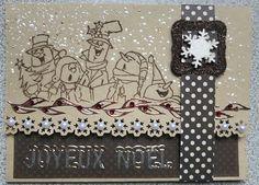 Art Impressions Christmas Sets Ai> Jolly Carolers (Sku#U4316) snowman Christmas winter card. snowmen