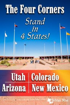 The Four Corners Monument, Arizona, Colorado, New Mexico, Utah, 4 Corners, Western USA