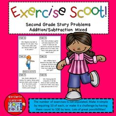 Story Problems Addition and Subtraction: Math Task Cards -