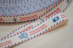 Travel Paris Cotton Tape 5 yards by Kiiss on Etsy, $4.00