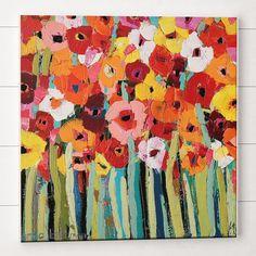 """Gefunden bei Wayfair.de - Leinwandbild """"Julies Blooms"""" von Anna Blatman, Kunstdruck"""