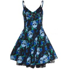 Rosetic Gothic Lace Dress Women Skull Print Sexy Summer Black See Through Mini Dress Female Backless Blue Goth Party Dresses Backless Mini Dress, Lace Dress, Dress Up, Alternative Mode, Alternative Fashion, Pretty Dresses, Beautiful Dresses, Gothic Mode, Skull Dress