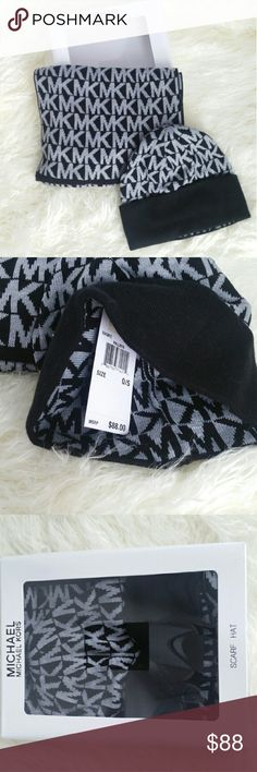 Michael Kors BOXED scarf & hat set Brand new with tags   Michael Kors BOXED GIFT set including MK hat and scarf. It set makes a great gift!!   I will ship same day! I am a suggested user! Michael Kors Accessories Scarves & Wraps