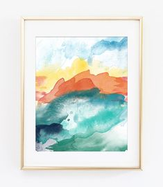 Abstract Printable Art Print #3 8x10 (can be printed up to 16x20) Modern Abstract art in gorgeous colors make this a welcome addition anywhere in