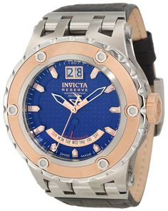 Invicta Men's 10089 Subaqua Reserve Blue Carbon Fiber Dial Watch *** More info could be found at the image url. (This is an Amazon Affiliate link and I receive a commission for the sales)