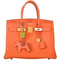 Pre-owned HERMES BIRKIN BAG 30cm HOT ORANGE GOLD HARDWARE JaneFinds (82.185 BRL) ❤ liked on Polyvore featuring bags, handbags, handbags and purses, hermes birkin bags, top handle bags, leather man bag, handbags purses, mini handbags, man bag and hermes purse