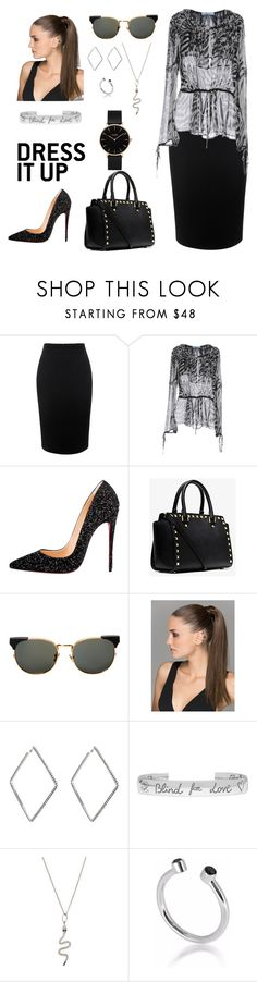 """mostly black"" by tunakrm ❤ liked on Polyvore featuring Alexander McQueen, Blumarine, Christian Louboutin, Michael Kors, Linda Farrow, area, Gucci, Sydney Evan, Maya Magal and CLUSE"