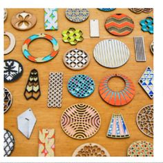 Molly M Designs graphic earrings are wonderful! Fab.com #fashion #artonears #style #accessories