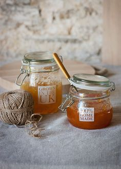 Jams also make great gifts. Homemade jam in a lovely jar, perfect!