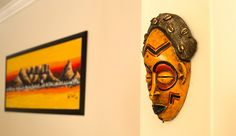 There are many ways to perk up a bare wall. It can be a painting, ethnic art or anything means to you; only if walls could talk right? African Paintings, Contemporary African Art, South African Artists, African Masks, Cape Town, Walls, Museum, Interior, Travel