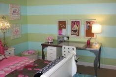 striped walls girls bedroom - Google Search