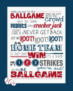 take me out to the ballgame printable, and fun event night