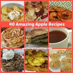 40 Amazing Apple Recipes Perfect for the Upcoming Apple Season!! #recipes #desserts #apples | best stuff