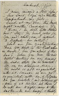 Kate (Turner) Anthon's transcription of Dickinson's  circa March 1859 letter (Johnson 203).