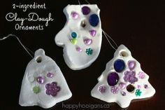 White Clay Dough ornaments! So easy, so pretty! (happy hooligans)