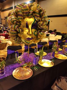 Mardi Gras Ball Decorations Phantom Of The Opera Themed Mardi Gras Ball Table Decor  My Work
