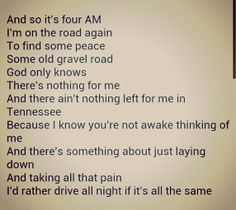 "Lucero Lyrics from ""It Gets the Worst at Night"""
