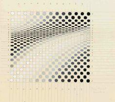 etceterablog:  Bridget Riley (b. 1931) Untitled, 1964 gouache and pencil on paper  187/8 x 117/8in. (48 x 29cm.)