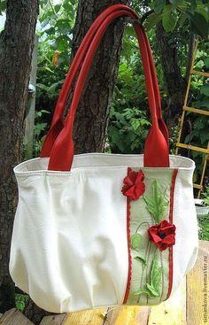Женские сумки ручной работы. Ярмарка Мастеров - ручная работа. Купить Маки летом. Handmade. Оригинальный подарок, летняя сумка