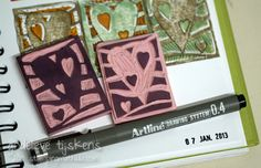 StampingMathilda: Stamp Carving - Interlocking Hearts