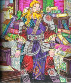 Daario Naharis Game Of Thrones Painted On A Coloring Book July 2018