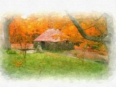 """""""A NATURE AND HUT"""" #Creative #Art in #digital-art @Touchtalent"""
