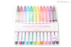Pilot FriXion Colors Erasable Marker - 12 Color Set - PILOT SFC-120M-12C